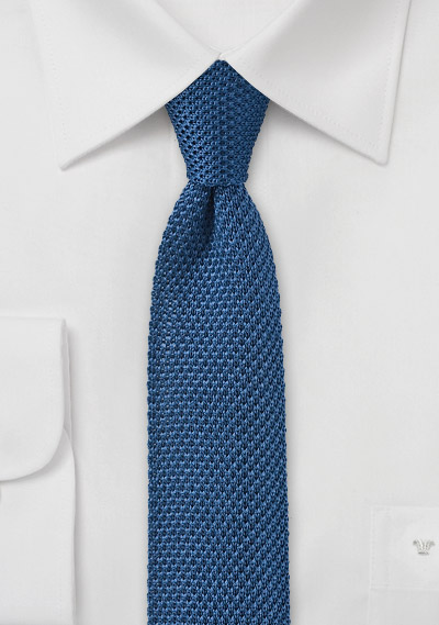 Marine Blue Knitted Tie Bows N Ties