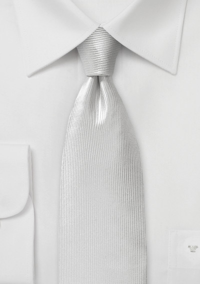 Corduroy Silk Tie in Snow White