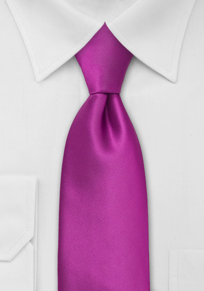 Mens Tie in Dark Magenta