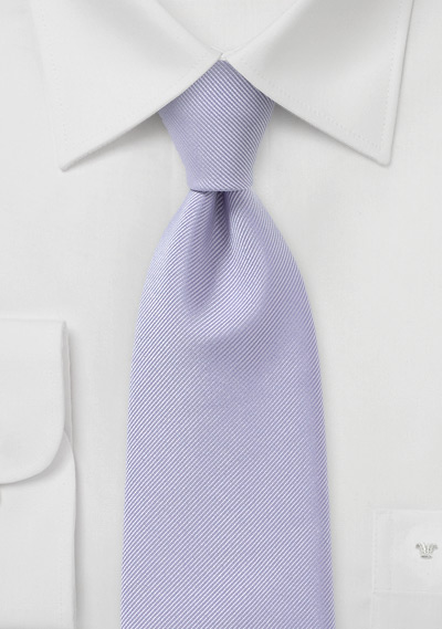 Extra Long Length Tie in Lilac