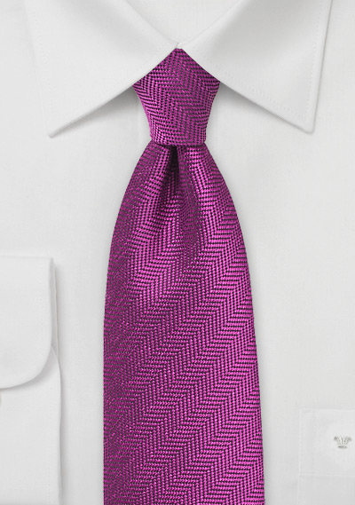 Magenta Purple Autumn Necktie
