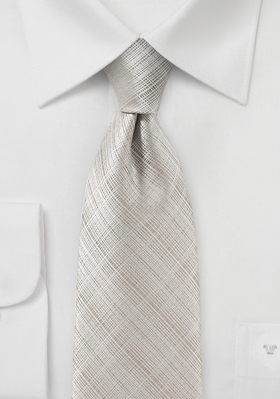 Solid Textured Tie in Stone Gray