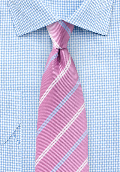 b5479c9c1fde Repp Stripe Tie in Lilac, Light Blue, and White | Bows-N-Ties.com