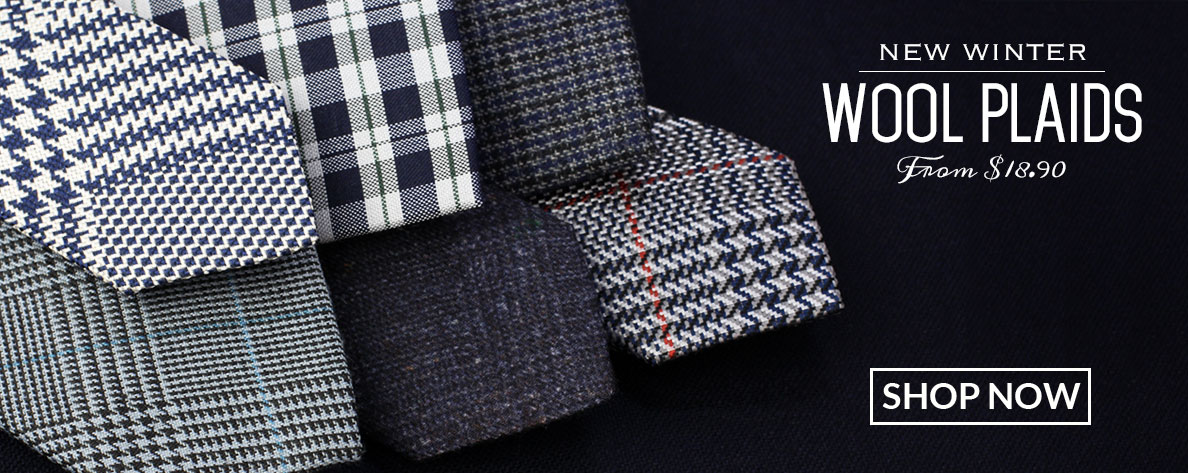 Wool Plaid Ties