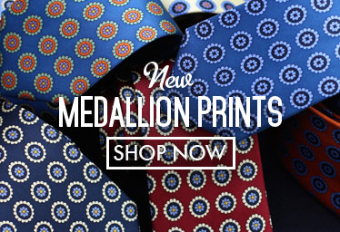Medallion Print Ties