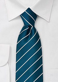 XL Tie in Sapphire Blue and White