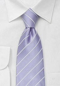 Lavender and White Mens Tie