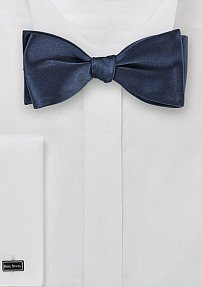 Navy Bow Tie in Self Tie Style