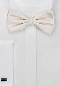 Formal Solid Cream Colored Bow Tie