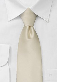 Formal Mens Tie in Solid Cream