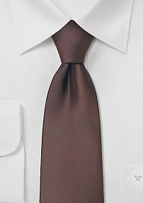 Chocolate Brown Tie in XL Length