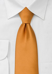 Solid Mens Tie in Amber-Orange
