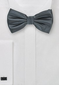 Solid Bow Tie in Smoke-Gray