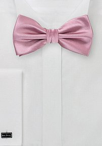 Mens Pre-Tied Bow Tie in Solid Pink
