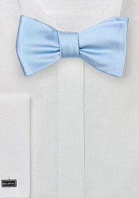 Solid Powder Blue Bow Tie in Self-Tie Style