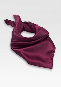 Solid Burgundy Neck Scarf