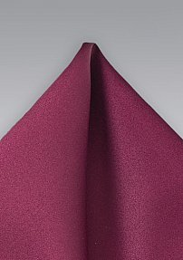 Solid Burgundy Handkerchief