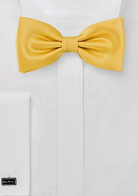 Solid Golden Yellow Bow tie