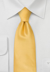 Solid Lemon-Yellow Necktie in XL Length