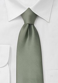 Solid Olive Green Neck Tie