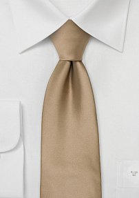 Solid Color Kids tie in Cappuccino