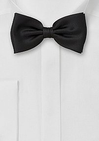 Mens Bow Tie in Solid Black