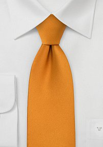 Solid Tie in Amber Orange