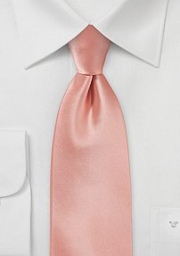 Solid Color Necktie in Tropical Peach