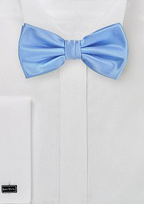 Solid Mens Bow Tie in Bright Sky-Blue