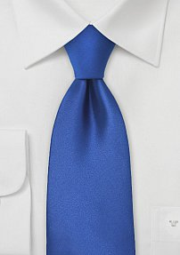 Solid XL Tie in Bright Azure Blue