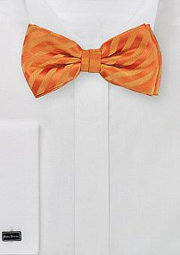 Bright Orange Striped Bow Tie for Toddlers