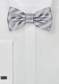 Boys Sized Bow Tie in Silver