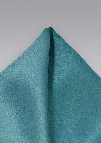 Solid Color Pocket Square in Light Teal