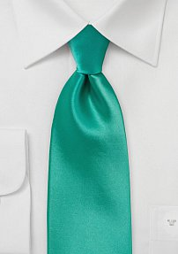 Single Color Jade Green Tie