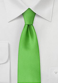 Grass Green Skinny Mens Tie