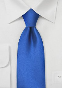 Marine Blue Tie in Long Length