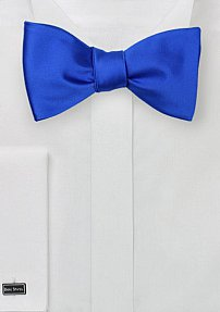Solid Horizon Blue Self Tied Bow Tie