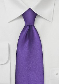 Extra Long Tie in Regency Purple