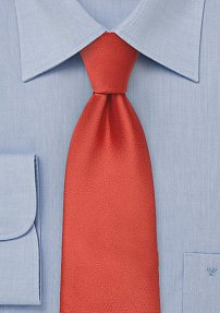 Deep Saffron Orange Tie
