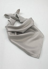 Refined Scarf in Mercury Silver