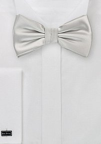 Solid Color Bow Tie in Light Silver