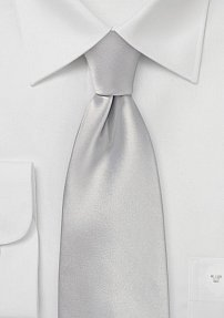 Solid Color Kids Tie in Light Silver