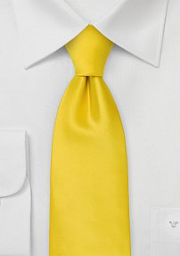Solid XL Length Tie in Bright Sun Yellow