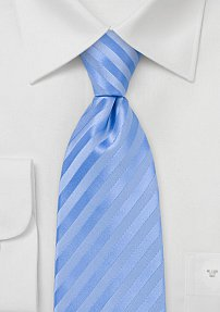 Baby Blue Striped Tie