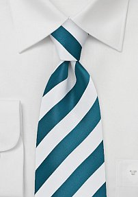 Royal Blue and White Tie