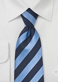 Navy Blue and Periwinkle Tie for Kids