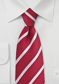 Red and White Kids Tie
