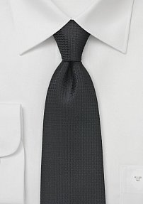Men's Embroidered Black Neck Tie