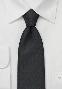 Two Toned Check Tie in Black for Tall Men