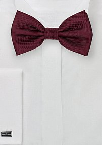 Matte Finish Bow Tie in Maroon Red